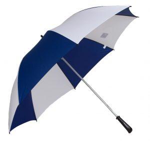 Guarda-chuvas de portaria para duas pessoas com 1.5 de diâmetro aberto com armação e cabo antiferrugem.